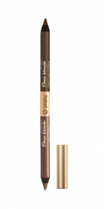 Amelia Cosmetics eyeliner pencil Duo Pencil matt/metallic brown