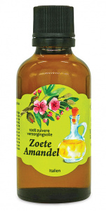 Aromama massage oil Zoete Amandel 50 ml vegetable brown