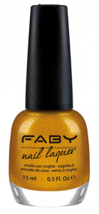 Faby nail polish All that glitter is not gold 15 ml vegan gold