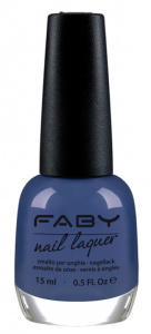 Faby nail polish Crossing the Universe ladies 15 ml vegan blue