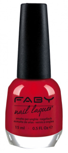 Faby nail polish Red Hot! ladies 15 ml vegan red