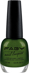 Faby nail polish Glittering Chlorophyll ladies 15 ml vegan green