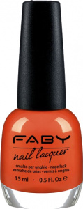 Faby nail polish Italian Holidays ladies 15 ml vegan orange