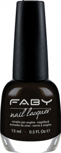 Faby nail polish It's not Black. It's Dark. ladies 15 ml vegan black
