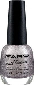 Faby nail polish Meteor Shower ladies 15 ml vegan silver grey