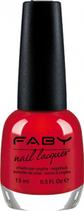 Faby nail polish Red Reflex ladies 15 ml vegan coral red