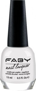 Faby nail polish Sugarful ladies 15 ml vegan white