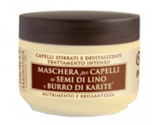 L'Erboristica hair mask Lijnzaad & Sheaboter 200 ml brown