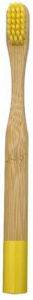 Misomada toothbrush junior 14,5 cm bamboo natural/yellow